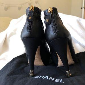Chanel cap-toe boots booties